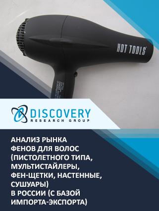 Анализ рынка фенов для волос (пистолетного типа, мультистайлеры, фен-щетки, настенные, сушуары) в России (с базой импорта-экспорта)