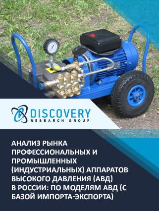 Анализ рынка профессиональных и промышленных (индустриальных) аппаратов высокого давления (АВД) в России: по моделям АВД (с базой импорта-экспорта)