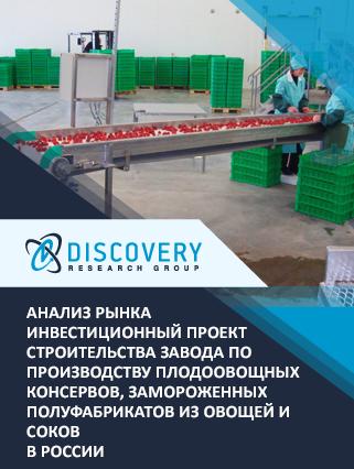 Маркетинговое исследование - Инвестиционный проект строительства завода по производству плодоовощных консервов, замороженных полуфабрикатов из овощей и соков