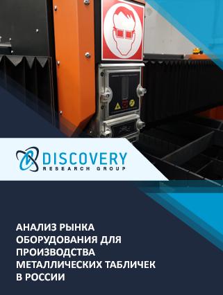 Маркетинговое исследование - Анализ рынка оборудования для производства металлических табличек в России